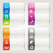 Rainbow - Media icons / Navigation template