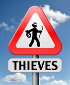 picture of theft  - thieves alert and protection of identity theft by neighborhood or crime watch - JPG