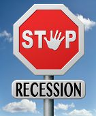 stop recession and financial crisis by recovery plan and action