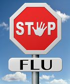 stop flu by vaccination or immunization shot with flu vaccine for prevention