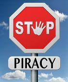 parar a pirataria e ilegal a cópia de proteção de direitos autorais e propriedade intelectual protegem cópia do comércio