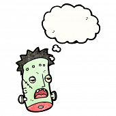 picture of frankenstein  - cartoon frankenstein monster head - JPG