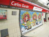 Carlos Gardel Subway Station In Buenos Aires, Argentina.