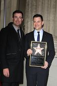 LOS ANGELES - JAN 25: Carson Daly, Jimmy Kimmel at a ceremony where  Jimmy Kimmel is honored with a