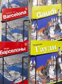Souvenir shop with Barcelona and Gaudi guide