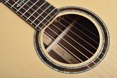 Sound Hole Of Acoustic Guitar