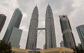 stock photo of petronas towers  - KUALA LUMPUR  - JPG