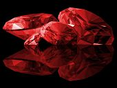 3D Ruby Gems Isolated