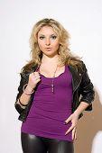 Skittish Young Blond Woman
