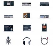 Vector audio electronics icon set
