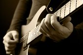 picture of guitarists  - guitarist hands - JPG