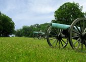 Row Of Cannons At Gettysburg