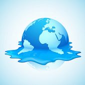 ilustração de derretimento do aquecimento global da terra apresentando