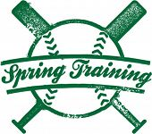 Frühling Training Baseball Stamp