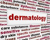 Dermatology health care medical poster