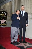 LOS ANGELES - JAN 25: Guillermo Rodriguez, Jimmy Kimmel at a ceremony where  Jimmy Kimmel is honored
