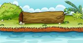 picture of hollow log  - Illustration of a trunk lying in the ground - JPG