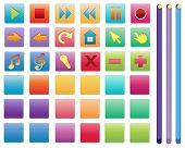 Ilustração de diferentes símbolos úteis