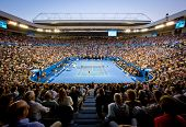 MELBOURNE - JANUARY 27: Crowd at Rod Laver Arena during the 2013 Australian Open Mens Championship F