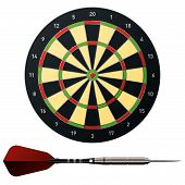 Vector Dart And Dart Board