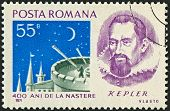 ROMANIA - CIRCA 1971: Postage stamps dedicated to Johannes Kepler (1571 - 1630), German mathematicia