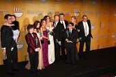 LOS ANGELES - JAN 27:  Modern Family Cast poses in the press room at the 2013 Screen Actor's Guild A