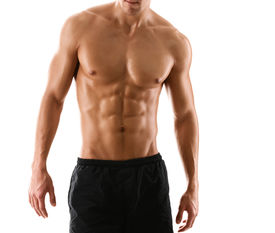 picture of half naked  - Half naked sexy body of muscular athletic man - JPG