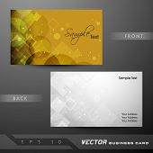 Professional and designer business card set or visiting card set. EPS 10.