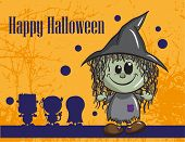 Halloween greeting card - Witch