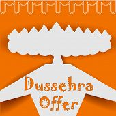 illustration of Ravana with ten heads for Dussehra Sale Promotion