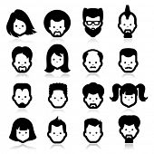 stock photo of goatee  - People Icons four - JPG