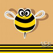 vector bee icon. vector illustration.