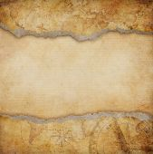 stock photo of treasure  - old torn map background - JPG