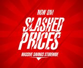 picture of slash  - Slashed prices design template - JPG