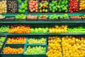 picture of supermarket  - Interior of empty supermarket - JPG