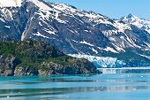 pic of arctic landscape  - Margorie Glacier in the Glacier Bay National Park Alaska - JPG