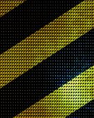 stock photo of hazardous  - Black and yellow hazard lines with grunge effects - JPG
