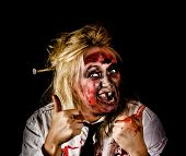 Undead Business Zombie Giving Halloween Thumbs Up