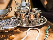 Antique Shining Silver Cups For Sale