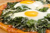 Italian Pizza With Spinach And Egg
