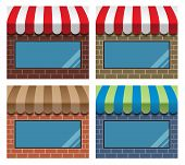 Storefront With Awning