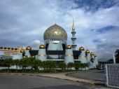 An Exterior View Of A Mosque In Kota Kinabalu