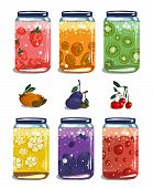 Bright Canned Sweet Fruit Jam Collection