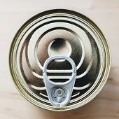 Tin Can With Ring Pull From Above