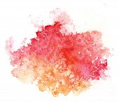 Abstract artistic element vectorized watercolor
