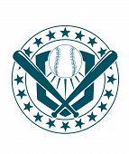 Baseball emblem or banner