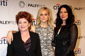 "LOS ANGELES - MAR 14:  Kate Mulgrew, Taylor Schilling, Laura Prepon at the PaleyFEST - ""Orange is th"