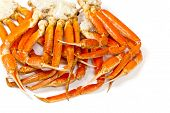 picture of cooked crab  - Snow Crab legs - JPG