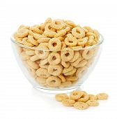 Healthy Cereal Rings Isolated On White Background