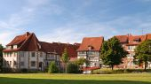 Half-timbered Houses In Hildesheim, Germany